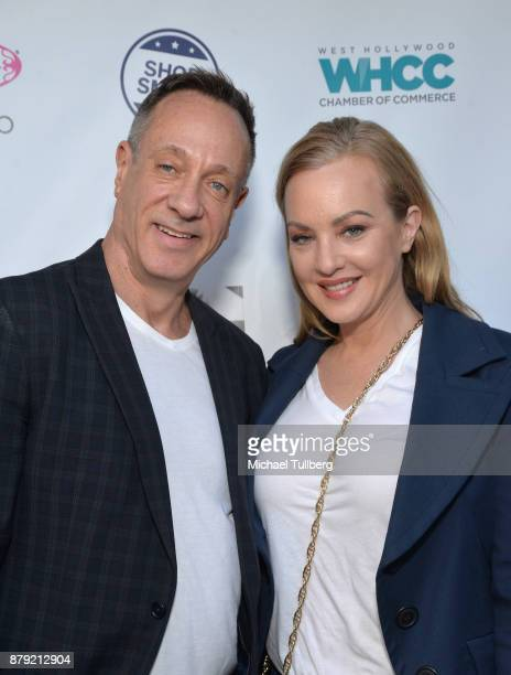West Hollywood Chamber of Commerce COB Keith Kaplan and actress Wendi McLendonCovey attend a Small Business Saturday 'Stars Shop Small for WeHo'...