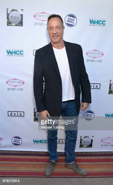West Hollywood Chamber of Commerce COB Keith Kaplan attends a Small Business Saturday 'Stars Shop Small for WeHo' event at B2V Salon on November 25...