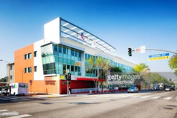 West Hollywood City Hall on Santa Monica Boulevard LA USA