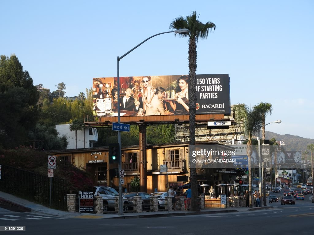 West Hollywood Sunset Boulevard Etats Unis Californie