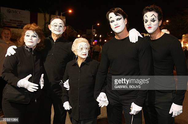 A family dressed like French mime Marcel Marceau participate at the West Hollywood Halloween Costume Carnaval 31 October 2006 The worldfamous costume...