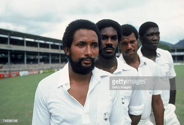 West Indian fast bowlers Andy Roberts Michael Holding Colin Croft and Joel Garner February 1981