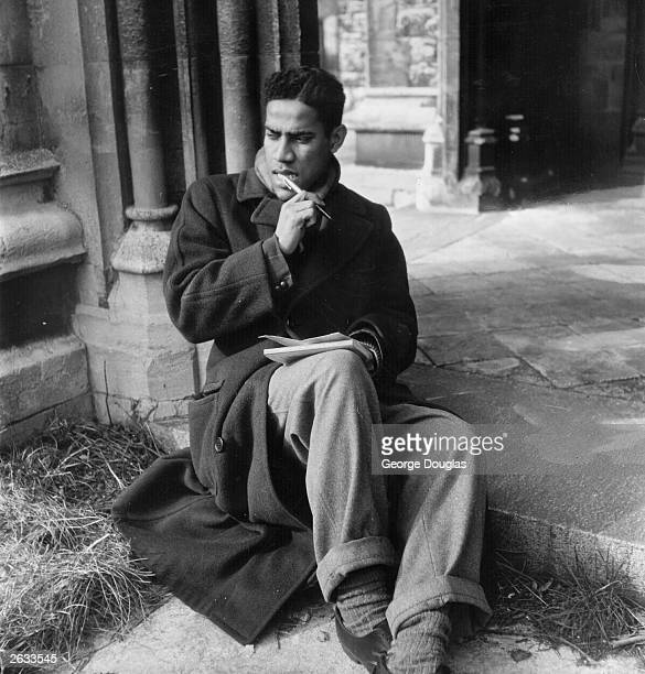West Indian poet George Lamming in London. Original Publication: Picture Post - 5314 - Are Poets Really Necessary? - pub. 1951 Original Publication:...