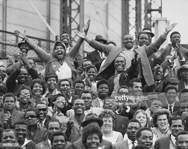 West Indian supporters at the Fifth and final Test against England at the Oval London 26th August 1963