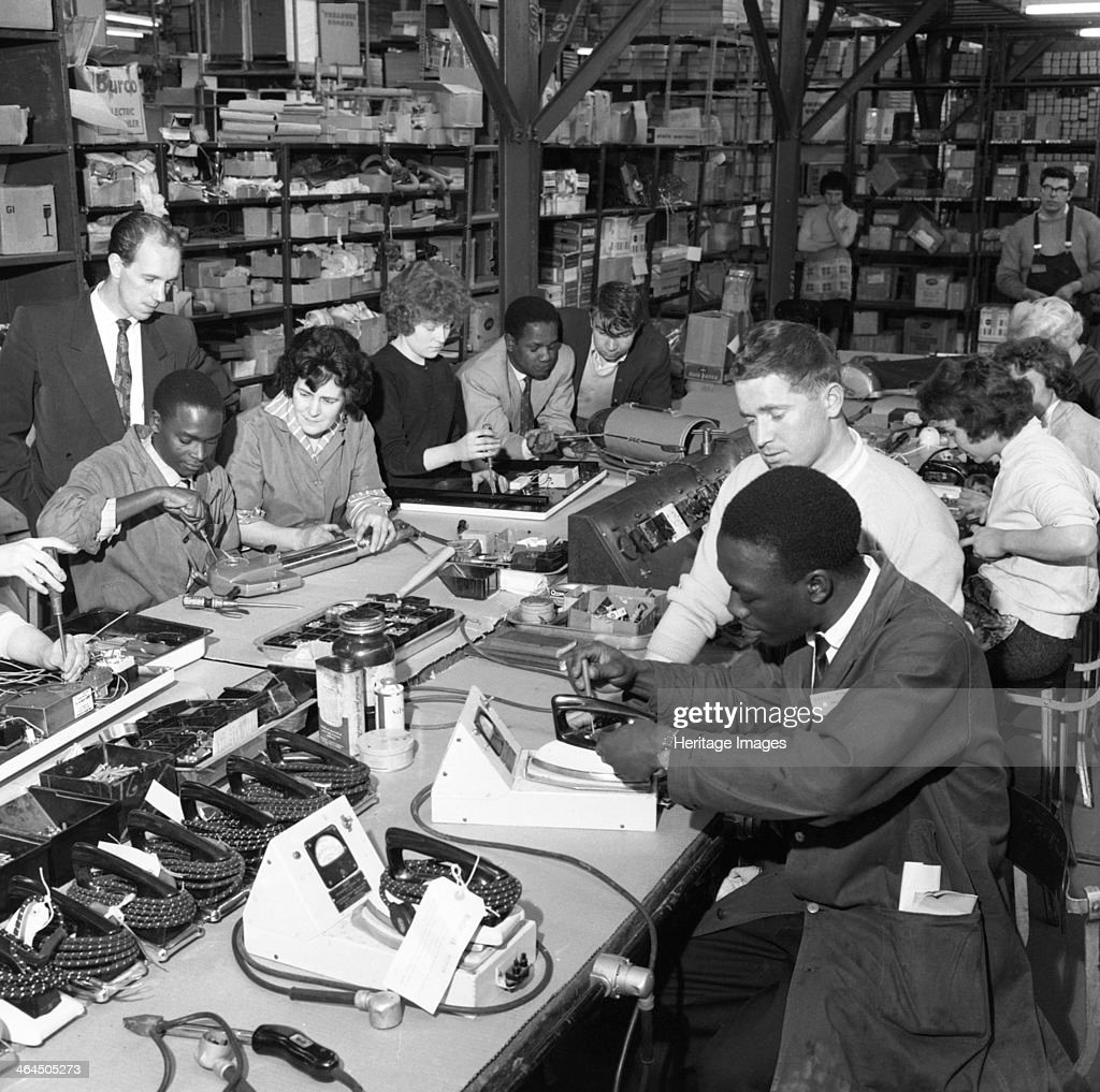 West Indian workers at the GEC, Swinton, South Yorkshire, 1962. Artist: Michael Walters : News Photo