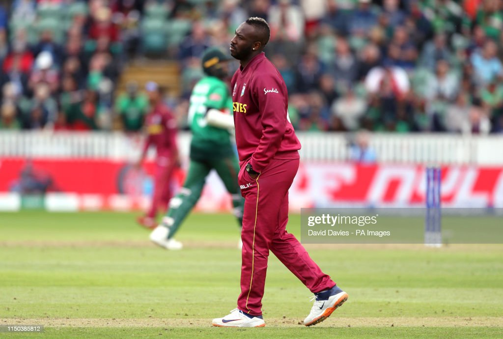 West Indies v Bangladesh - ICC Cricket World Cup - Group Stage - Taunton County Ground : News Photo