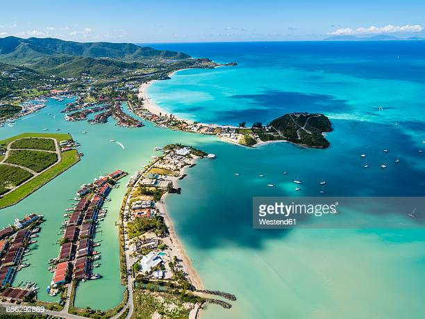 West Indies, Antigua and Barbuda, Antigua, aerial view, Jolly Harbour