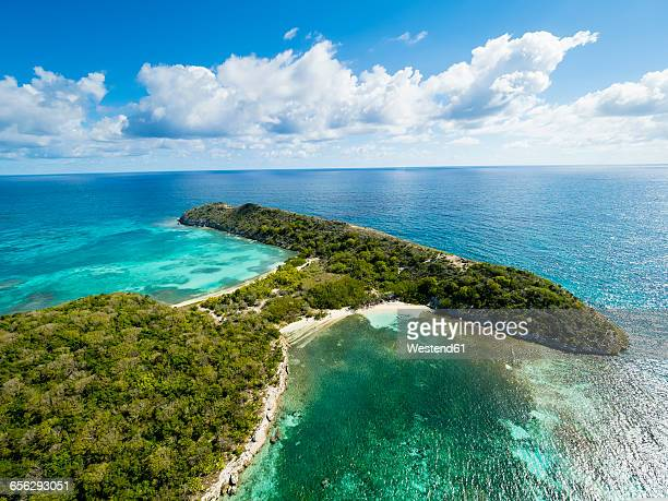 west indies, antigua and barbuda, antigua, great bird island, south and north beach - isla de antigua fotografías e imágenes de stock