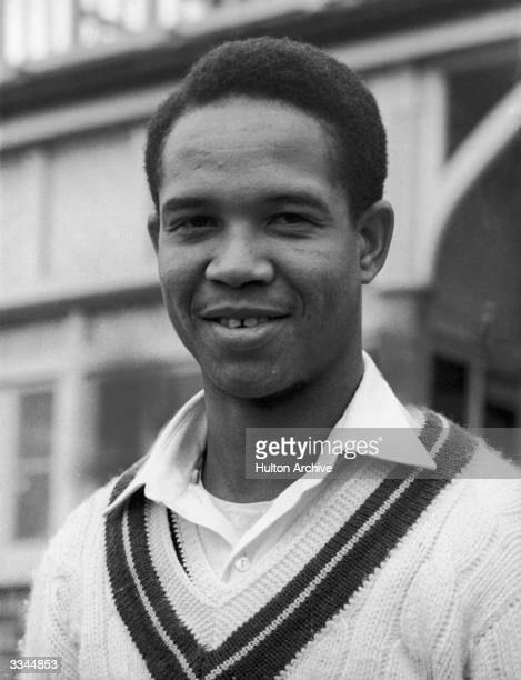 West Indies batsman and bowler Garfield Sobers before a test match at Bridgetown, 4th January 1960.