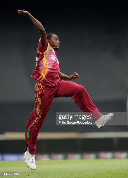 West Indies bowler Jerome Taylor celebrates the wicket of Australian captain Ricky Ponting during the ICC World Twenty20 group match between...