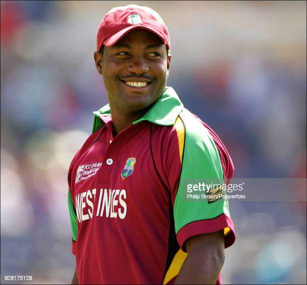 West Indies captain Brian Lara in the field during the ICC World Cup Super Eight match between West Indies and England at Kensington Oval,...
