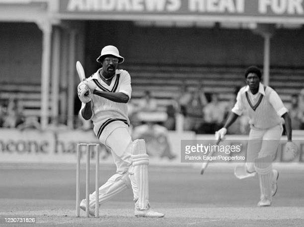 West Indies captain Clive Lloyd batting during his innings of 73 not out in the Prudential World Cup group match between New Zealand and West Indies...