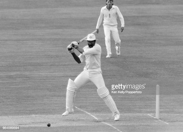 West Indies captain Clive Lloyd batting during the 2nd Test match between England and West Indies at Lord's Cricket Ground, London, 30th June 1984....