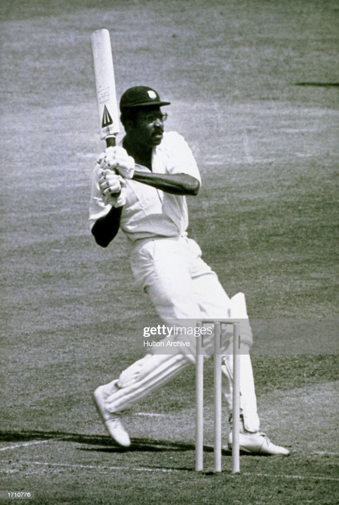 West Indies Captain Clive Lloyd on his way to a century during the World Cup Final against Australia at Lords in London. West Indies won by 17 runs.