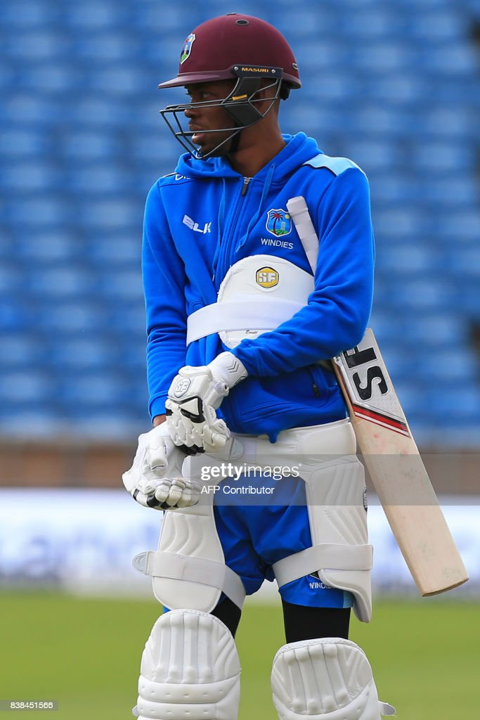 West Indies' captain Jason Holder attends a nets practice session at Headingley cricket ground in Leeds, northern England on August 24, 2017, ahead of the second Test match against England. / AFP PHOTO / Lindsey PARNABY / RESTRICTED