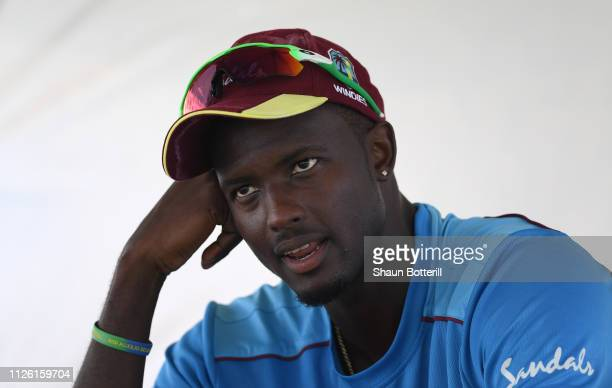 West Indies captain Jason Holder during a net session at Sir Vivian Richards Stadium on January 30 2019 in St John's Antigua and Barbuda