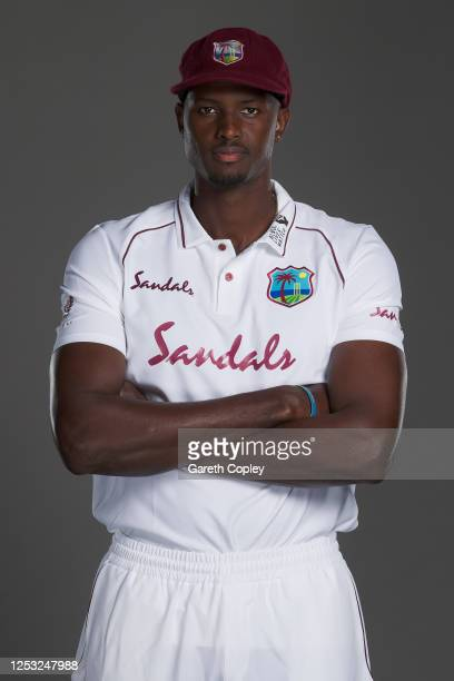 West Indies captain Jason Holder poses for a portrait at Emirates Old Trafford on June 28, 2020 in Manchester, England.