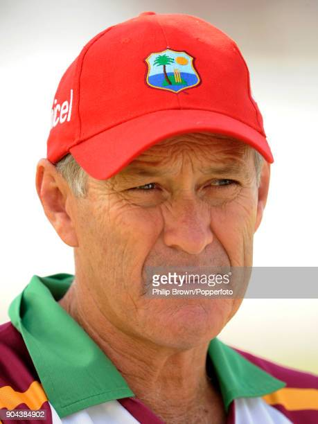 West Indies coach John Dyson during the 3rd Test match between West Indies and England at the Antigua Recreation Ground St John's Antigua 17th...