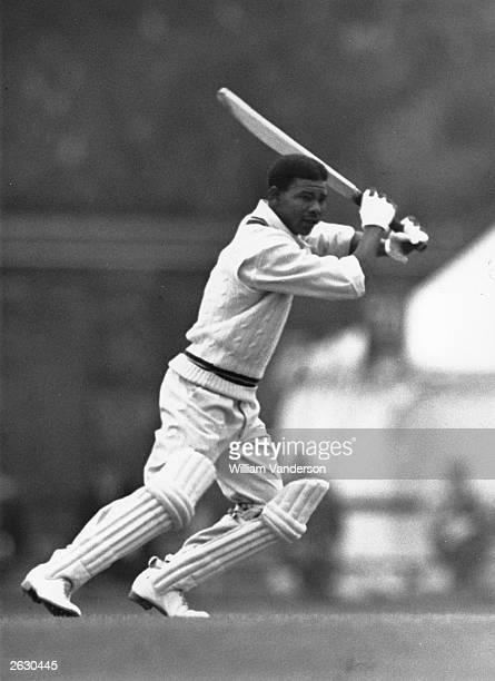 West Indies cricketer Everton Weekes in action batting against Cambridge University Original Publication Picture Post 5056 Fine Weather Cricketers...