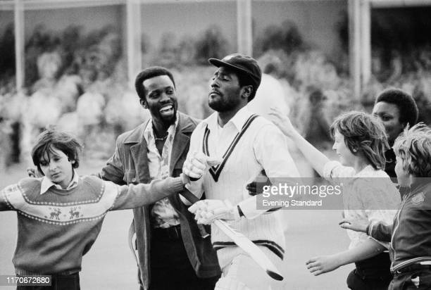 West Indies cricketer Viv Richards is greeted by fans after the 1st Test Match, West Indies tour of England at Trent Bridge, Nottingham, UK, 3rd June...