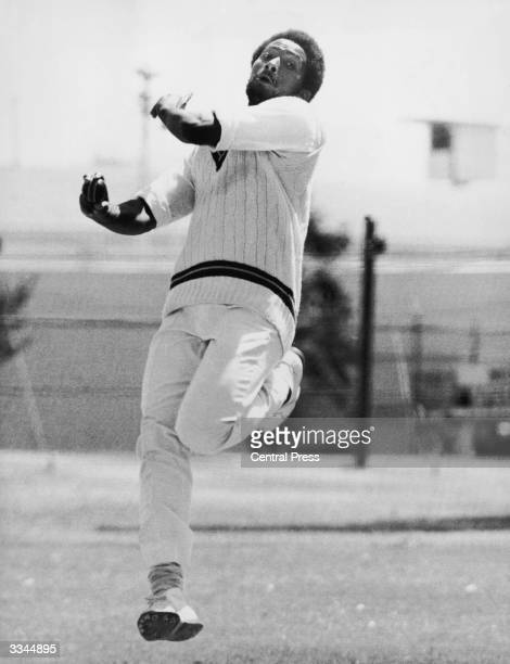 West Indies fast bowler Andy Roberts during the Second Test Match against the Autralians in Perth 15th December 1975