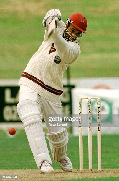West Indies Jimmy Adams against New Zealand 'A' at Owen