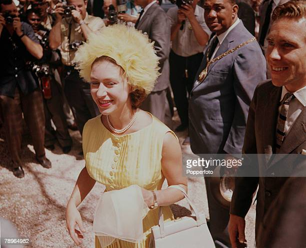 West Indies Princess Margaret and Lord Snowdon visit Spanish Town during their visit to the West Indies