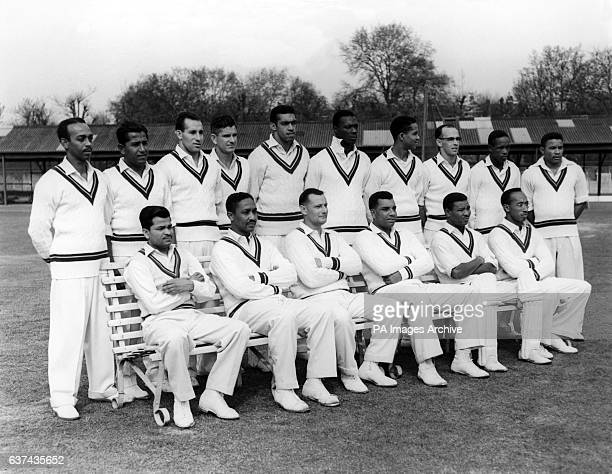 West Indies team group Andy Ganteaume Nyron Asgarali Gerry Alexander Denis Atkinson Tom Dewdney Wes Hall Gary Sobers Bruce Pairaudeau Roy Gilchrist...