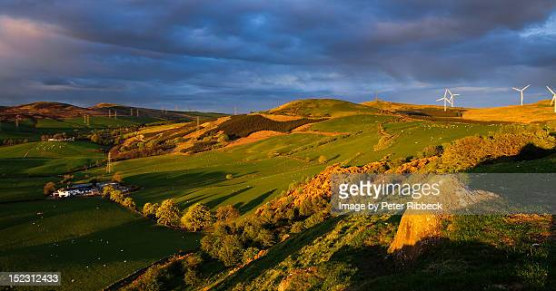 west kilbride view - american style windmill stock pictures, royalty-free photos & images