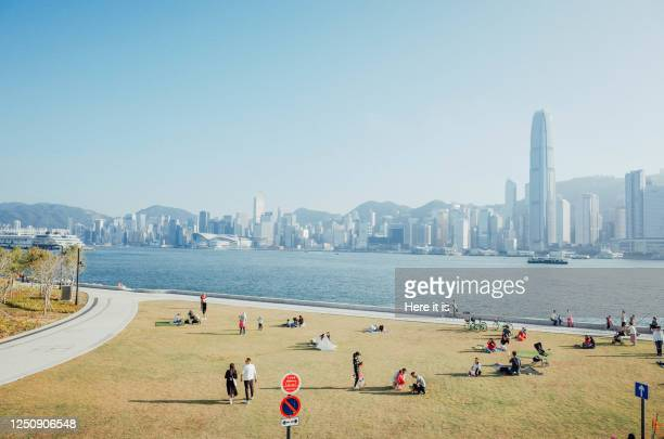 west kowloon cultural district waterfront - ウォーターフロント ストックフォトと画像