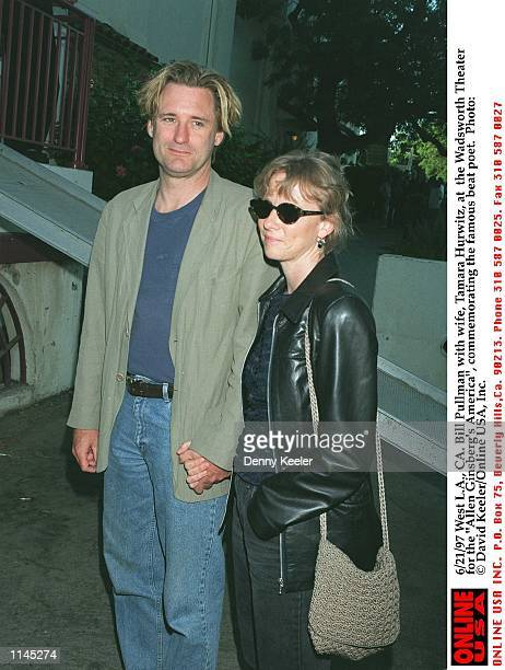 6/21/97 West LA CA Bill Pullman with wife Tamara Hurwitz at the Wadsworth Theater for the Allen Ginsberg's America commemorating the famous beat poet