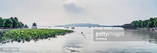 west lake, hangzhou, china - zhejiang foto e immagini stock