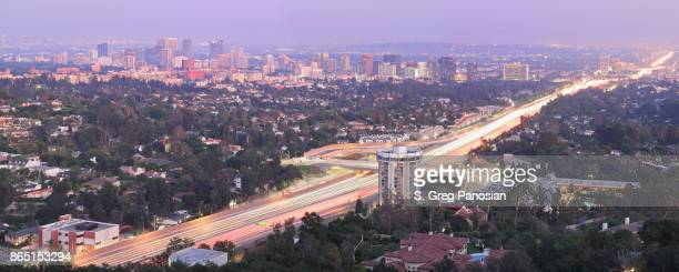 west los angeles skyline - westwood neighborhood los angeles stock pictures, royalty-free photos & images