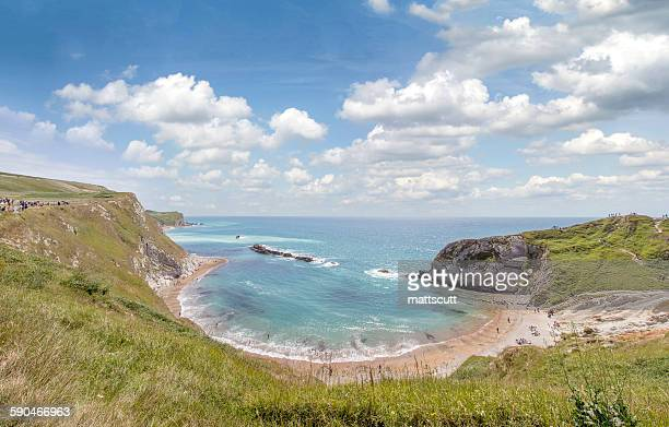 west lulworth beach, dorset, england, uk - mattscutt stock pictures, royalty-free photos & images