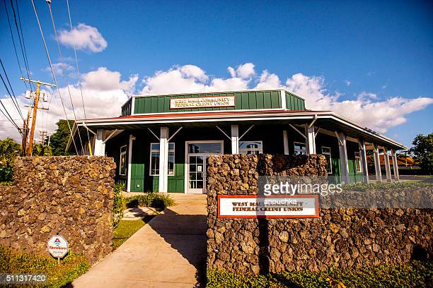 west maui community federal credit union building - pacific islands stock pictures, royalty-free photos & images