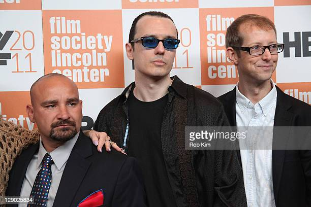 West Memphis Three Jessie Misskelley Jr Damien Echols and Jason Baldwin attend the 49th annual New York Film Festival presentation of Paradise Lost 3...