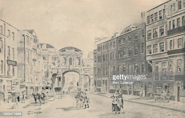 West of Temple Bar 1772' 1920 From Londoners Then and Now As Pictured By Their Contemporaries edited by Geoffrey Holme [The Studio Ltd London 1920]...