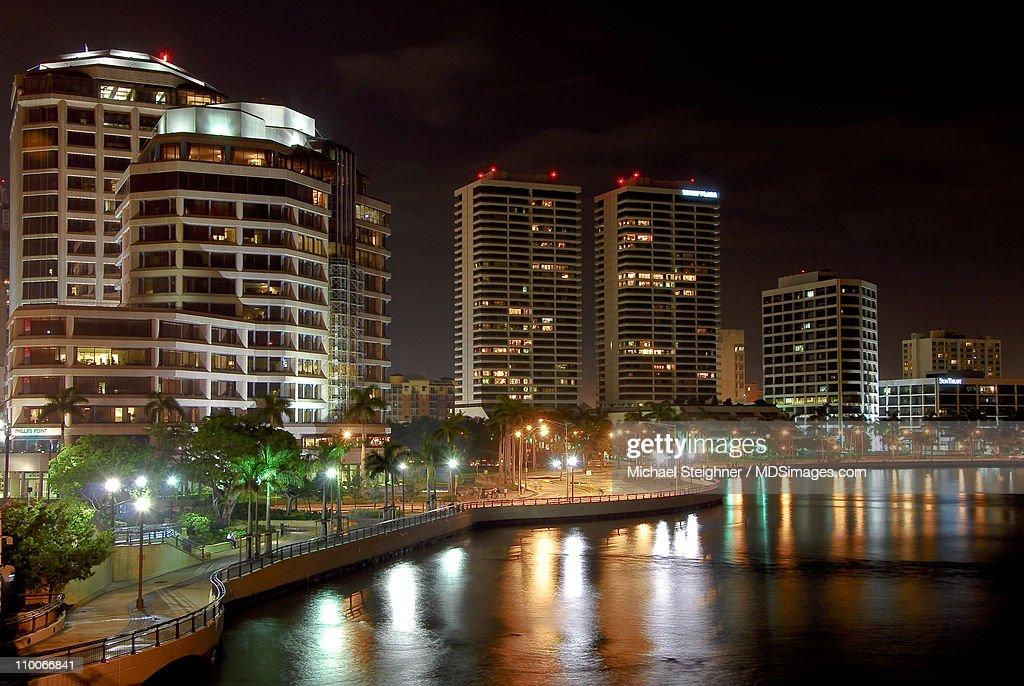 West Palm Beach Skyline : Stock Photo