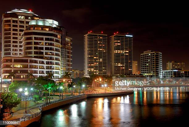 west palm beach skyline - west palm beach stock pictures, royalty-free photos & images