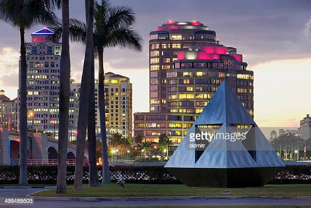west palm beach skyline - palm beach county stock photos and pictures
