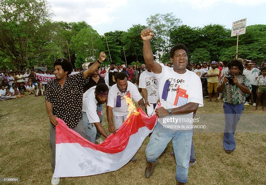 west papuan irian jaya activists led by richard pictures getty
