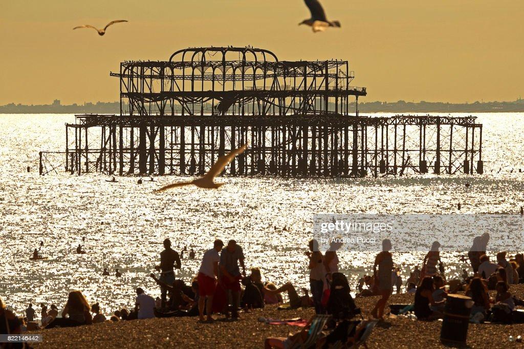 West Pier, Brighton, East Sussex, United Kingdom : Stock Photo