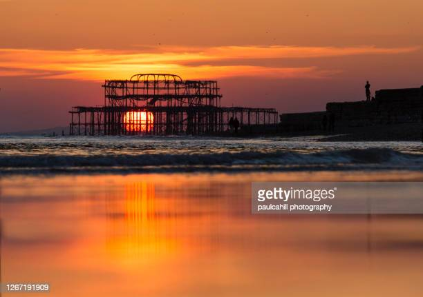 west pier - brighton stock pictures, royalty-free photos & images