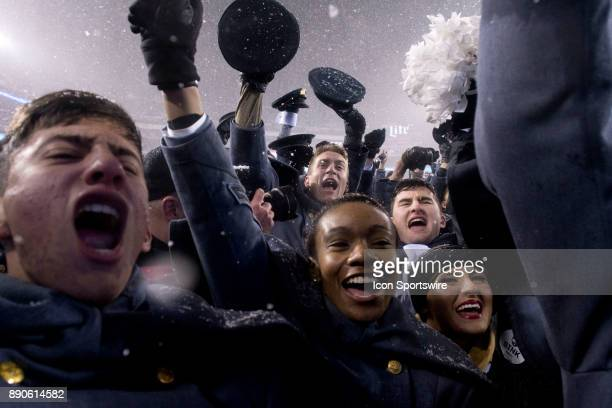West Point Cadets celebrate winning the game between The Army Black Knights and Navy Midshipmen on December 09 2017 at Lincoln Financial Field in...