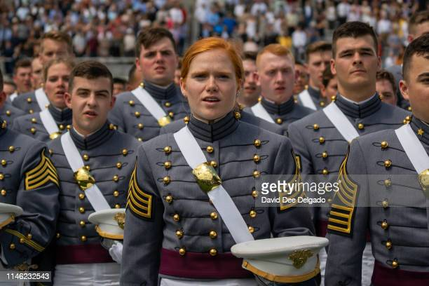 West Point graduates attend the U.S. Military Academy Class of 2019 graduation ceremony at Michie Stadium on May 25, 2019 in West Point, New York....