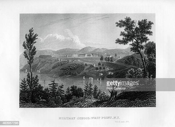 West Point Military School New York 1855 Illustration from the History and Topography of the United States of North America Volume II by John Howard...