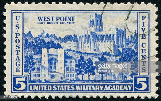 west point stamp - west point military academy stock pictures, royalty-free photos & images