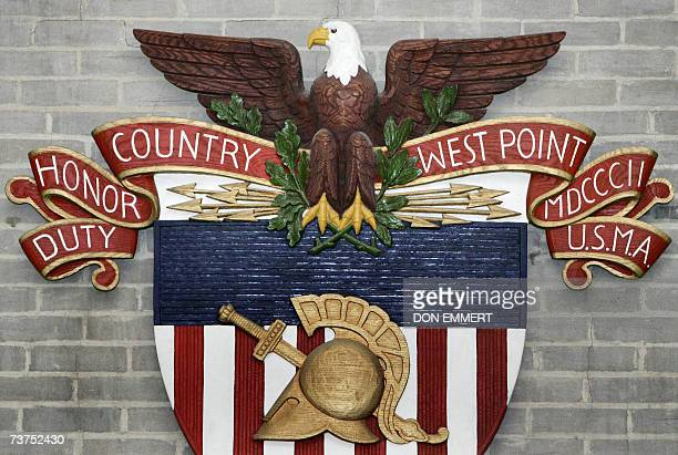 The US Army emblem hangs on the wall in the superintendent's conference room 30 March 2007 at the United States Military Academy in West Point NY AFP...