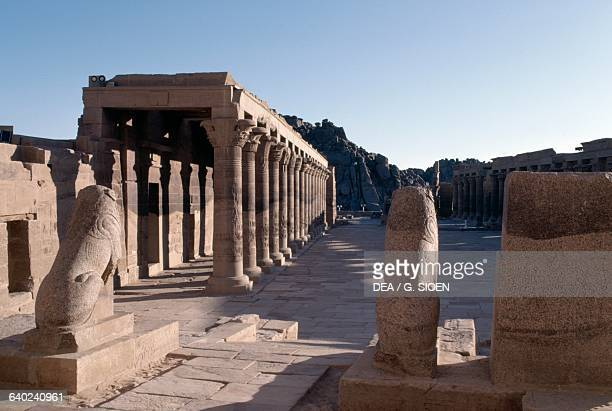 West portico of the Temple of Isis at Philae Agilkia Island Aswan Egypt Egyptian civilisation