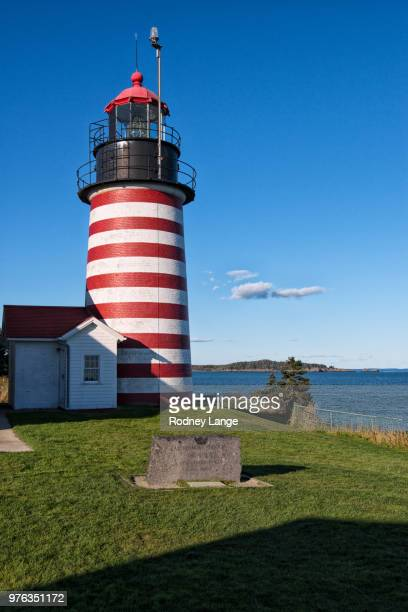 west quoddy head lighthouse - west quoddy head lighthouse stock photos and pictures